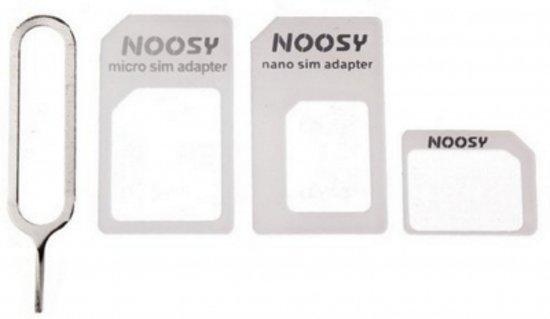 SIM adapter set / 3 stuks + Ejector pin / Nano Sim en Micro Sim