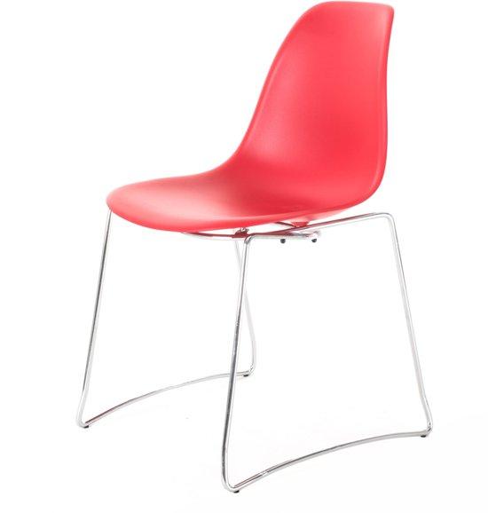 Gewoonstijl Initial Stack - Stoel - stoel - rood - chroom onderstel