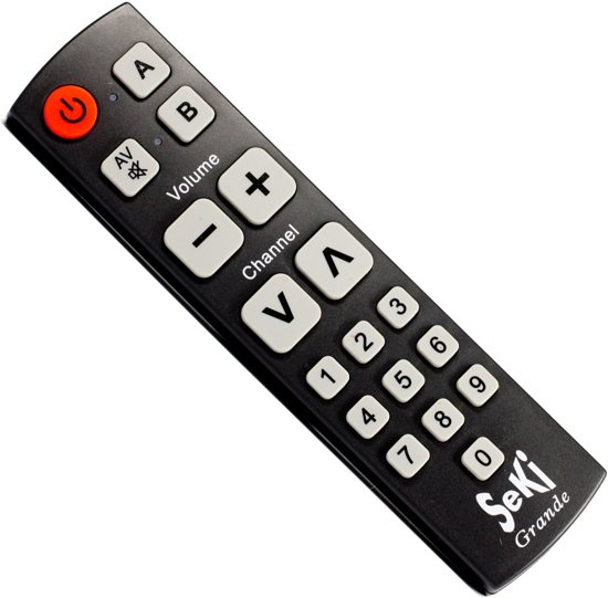 Beste Tv Voor Slechtzienden.Senioren Slechtzienden Universele Afstandsbediening Seki Grande Zwart
