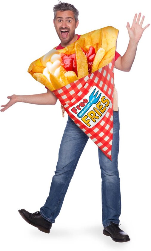 f95948ed7ea199 Schuimkostuum zak patat frites volwassenen - Carnavalskleding