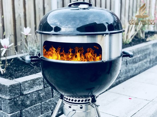 Grill Masters Pizzaring Designer set voor Weber 57cm ronde barbecue