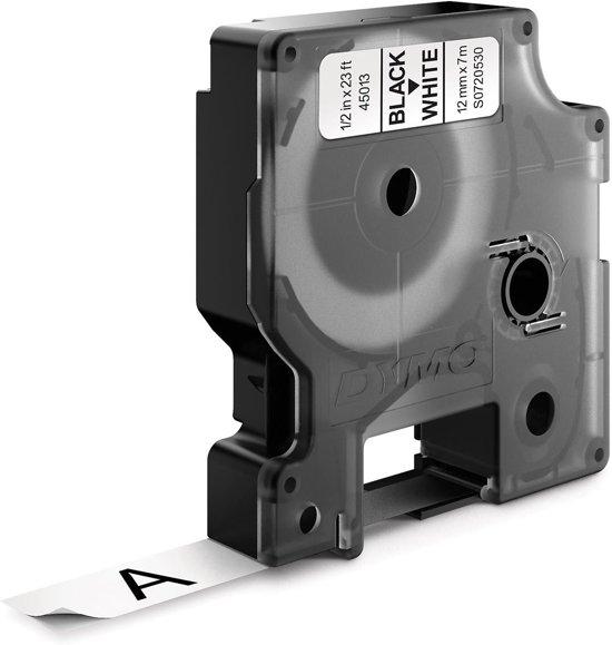 Dymo D1 - Tape Casette - 45013 - 12 mm x 7 m - Zwart/Wit