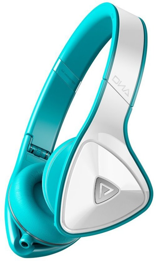 Monster DNA White Teal - On-ear koptelefoon - Wit/Lichtblauw