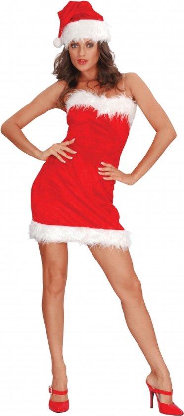 18f6e288584908 Strapless kerst jurkje met muts S m