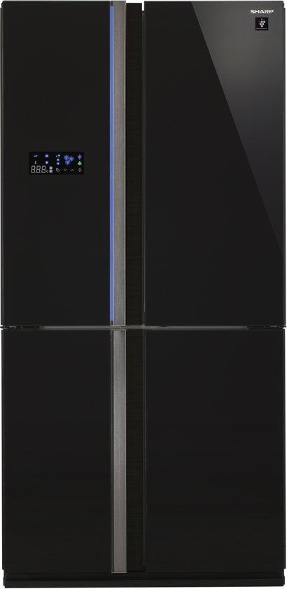 Sharp SJFS820VBK - Amerikaanse koelkast - Zwart