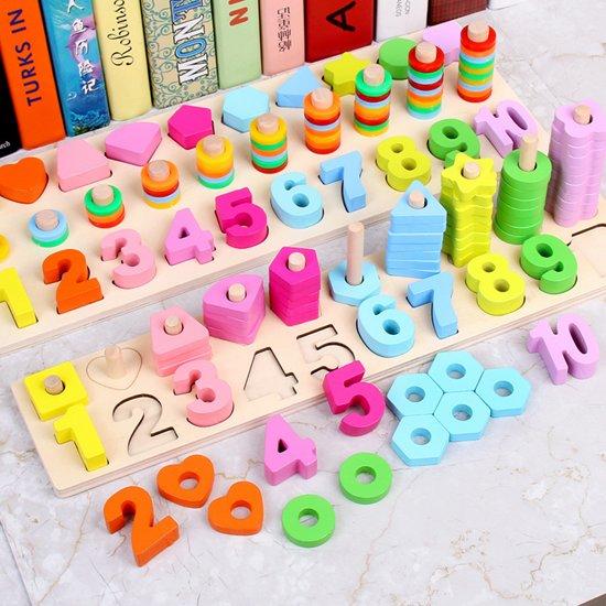 Afbeelding van Houten cijferreeks om kinderen te helpen op een leuke en creatieve manier te leren tellen speelgoed