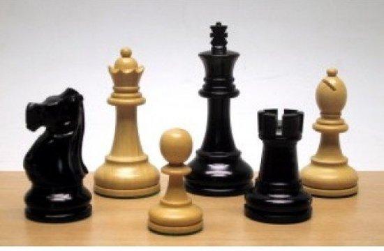 Afbeelding van het spel Schaakstukken Jacques Staunton Maat 6 Blank/Zwart