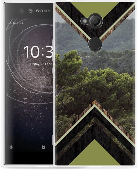 Sony Xperia XA2 Ultra Hoesje Forest wood