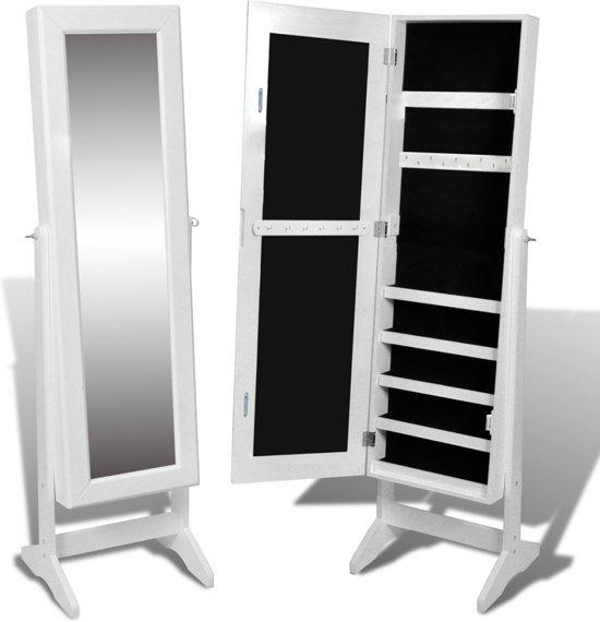 Bekend bol.com | vidaXL - Staande spiegel Sieradenkast met spiegel 146 x @RT49