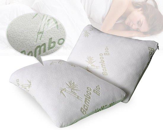 Bamboe Kussen Ervaringen : Bol bamboe air pillow foam hoofdkussen cm bamboe
