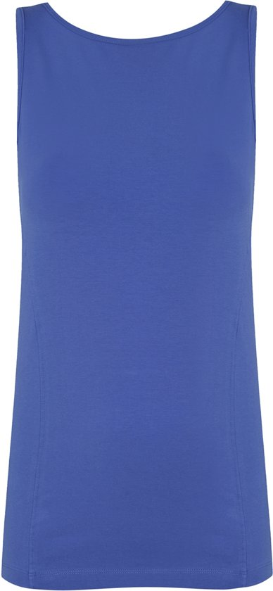 Yoga-top met boothals en beha, cornflower S Loungewear shirt YOGISTAR