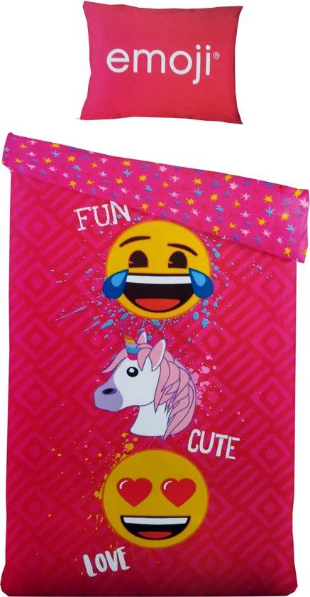 Bolcom Emoji Emoticon Smiley Fun Cute Love Dekbedovertrek