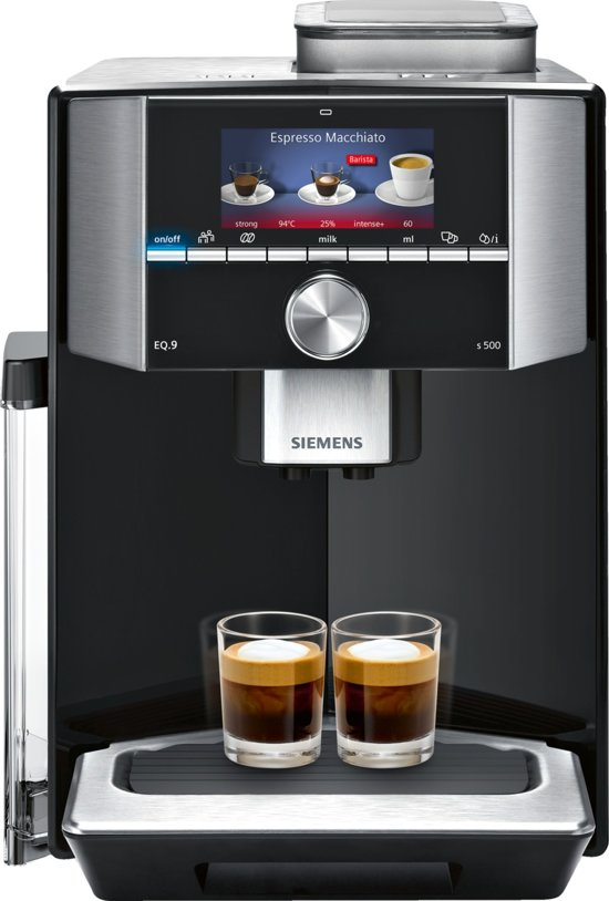 Siemens EQ9 TI915M89RW Espressomachine - RVS Zwart