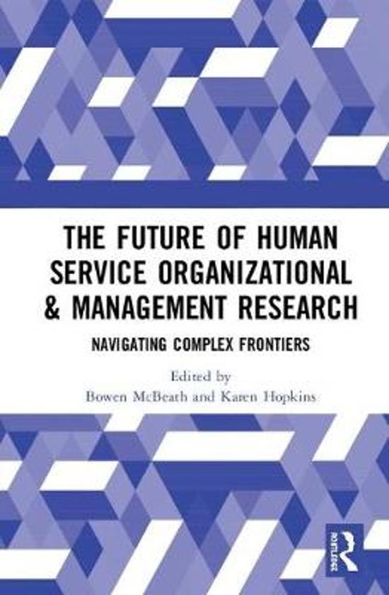 The Future of Human Service Organizational & Management Research