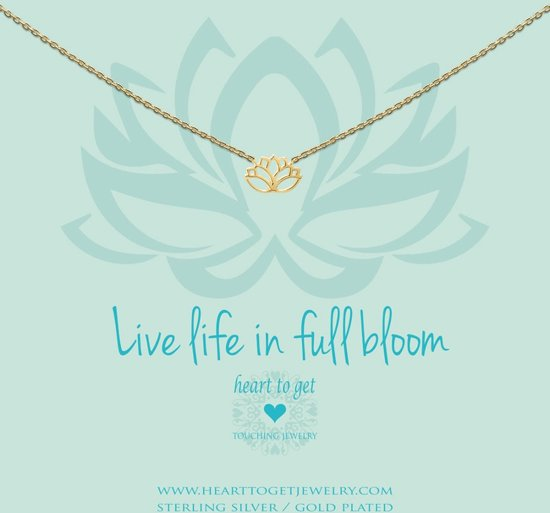 Heart to Get - N258LOT15G live life in full bloom necklace lotus goldplated