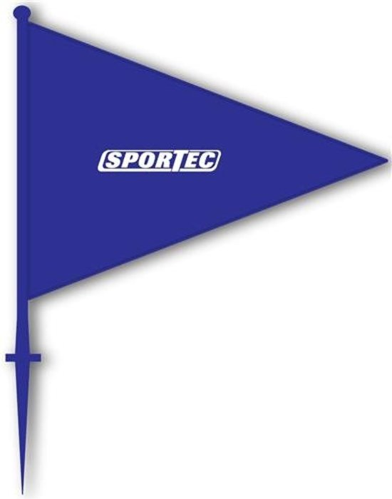 Sportec Markeringsvlaggen 10 Stuks Blauw