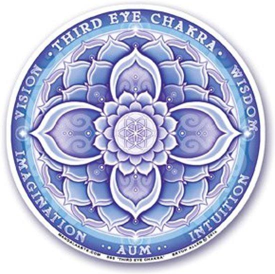 Bekend bol.com | Mandala Arts - Raamsticker - 6e chakra - Derde Oog #KD46