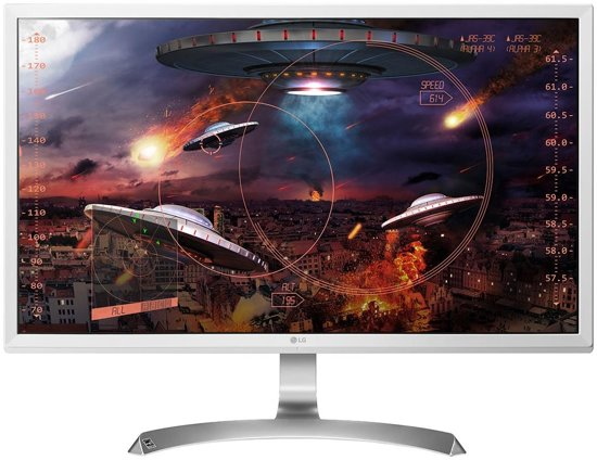 LG 27UD59-W 27'' 4K Ultra HD LED Flat Zilver, Wit computer monitor LED display