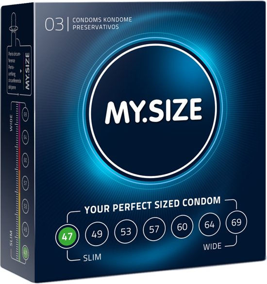 MY.SIZE 47 mm Condooms 3 stuks