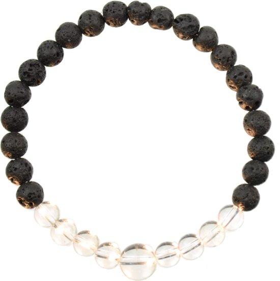 Bergkristal Armband | Alkalurops | M - 19 cm