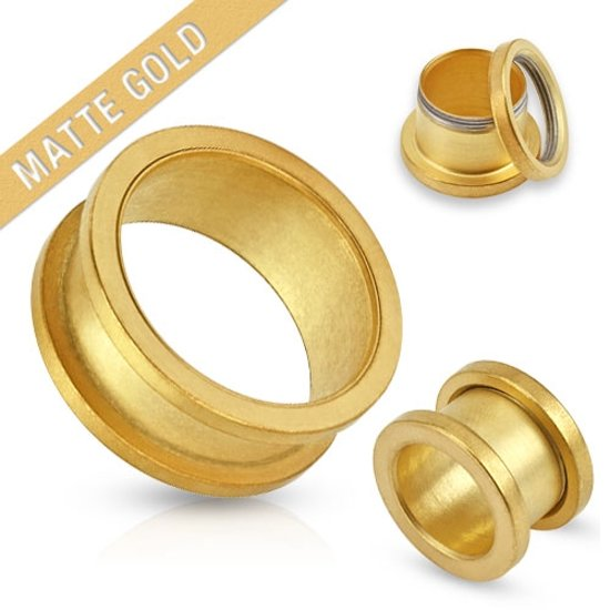 5 mm screw fit tunnel mat gold plated