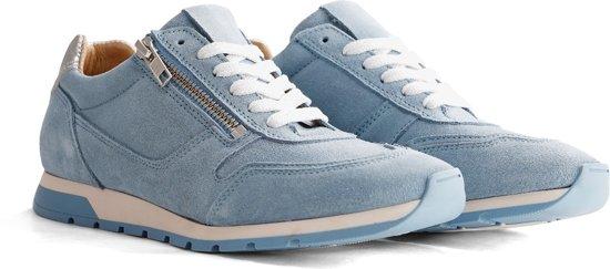 NoGRZ E.Blore - Leren dames sneaker - Lichtblauw - Maat 40