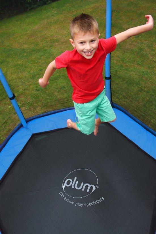 Trampoline Plum 7ft junior met net blauw/groen