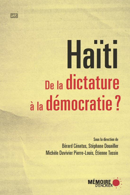 Boek cover Haïti. De la dictature à la démocratie? van Etienne Tassin (Onbekend)