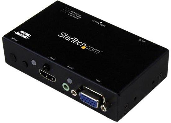 2x1 HDMI + VGA to HDMI Converter Switch
