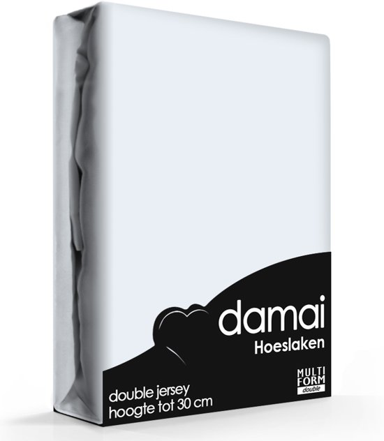 Damai - Hoeslaken (tot 25 cm) - Double Jersey - 120 x 200/210/220 cm - Sky blue