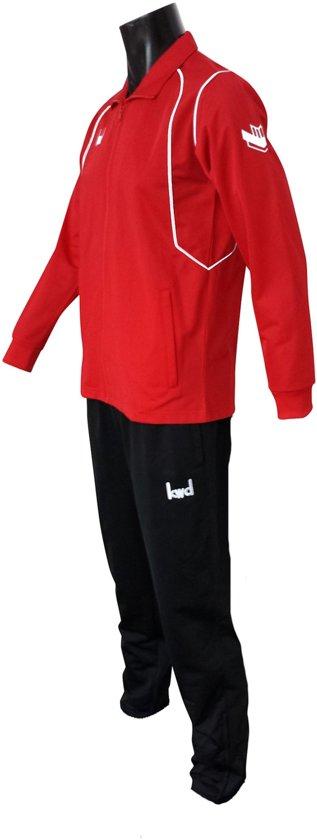 KWD Trainingspak Victoria - Rood/wit/zwart - Maat XL