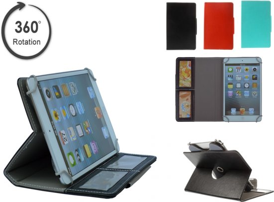 Medion Lifetab S7321 Juniortab Hoes met handige 360 graden stand, Multi-Stand Slimfit Case, blauw , merk i12Cover in Breedeweg