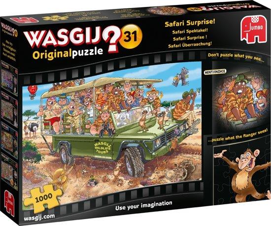 Afbeelding van Wasgij Original 31 Safari Surprise Puzzel 1000 Stukjes speelgoed