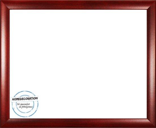 Homedecoration Colorado – Fotolijst – Fotomaat – 51 x 59 cm – Wijnrood geborsteld