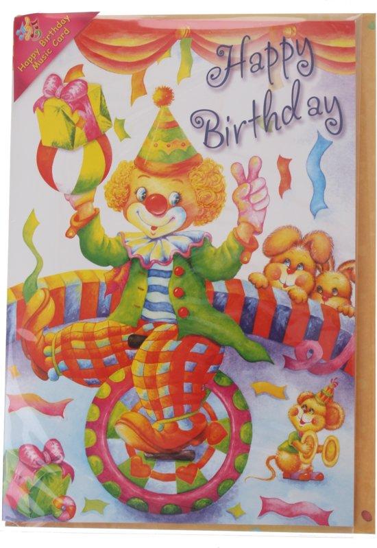 Tom Verjaardagskaart Met Geluid Circus 20 Cm