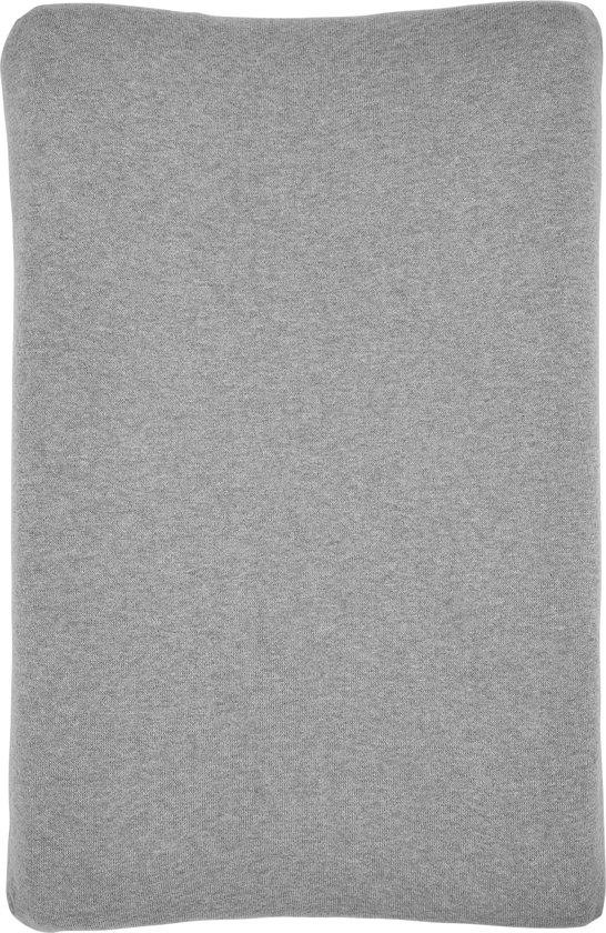 Meyco Knit Basic aankleedkussenhoes - grijs melange