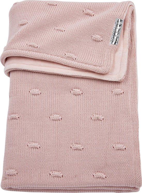 Meyco ledikantdeken Knots met velvet - 100x150 cm - roze