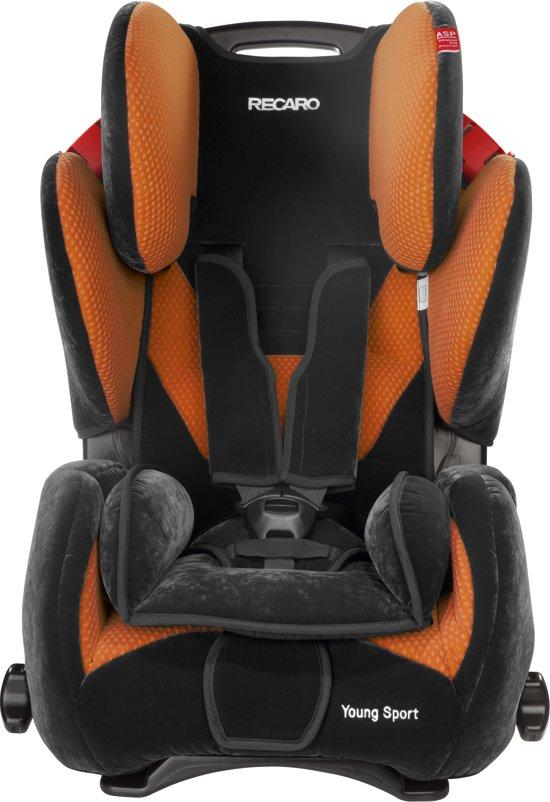 recaro young sport microfibre autostoel oranje. Black Bedroom Furniture Sets. Home Design Ideas