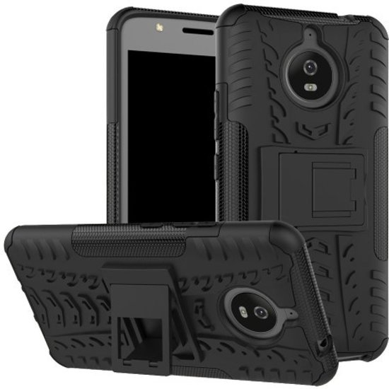 san francisco 8890d e559a Motorola Moto E Plus 4th gen Schokbestendige Back Cover Zwart