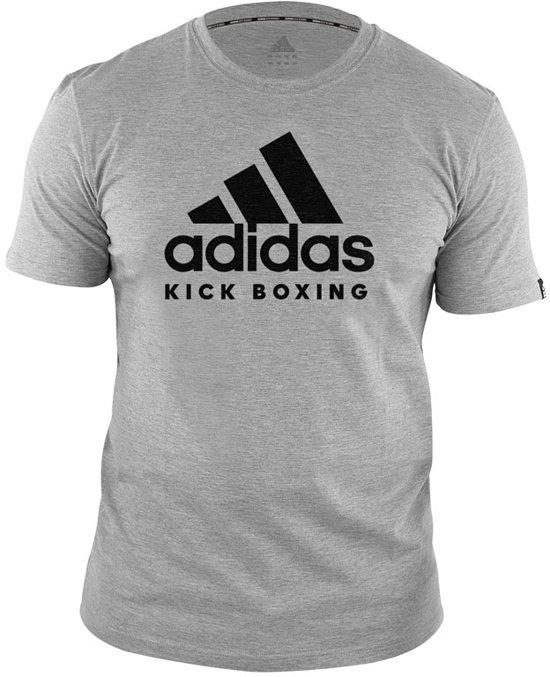 adidas T-Shirt Kickboxing Community Grijs/Zwart Extra Small
