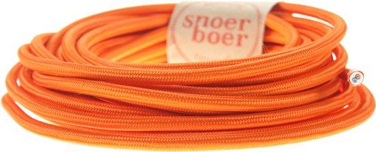 Snoerboer - Oranje strijkijzersnoer - per meter aan 1 stuk