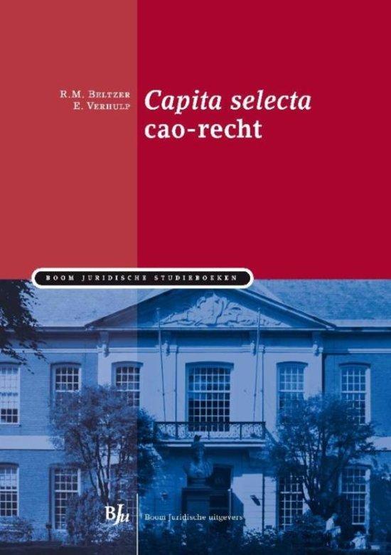 Boom Juridische studieboeken Capita selecta cao recht