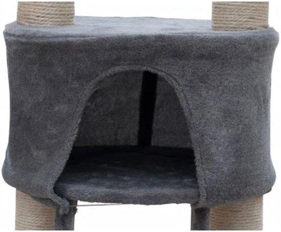 Krabpaal Saartje 230/260 cm 1 huisje - Grijs