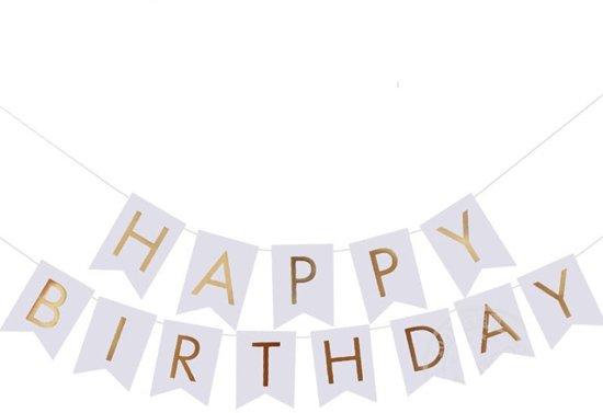 Bol Com Happy Birthday Slinger Verjaardag Wit Ranido Speelgoed