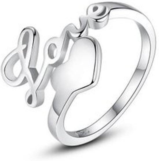 Zilveren ring love