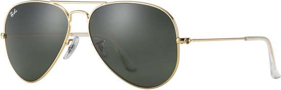 Ray-Ban RB3025 L0205 - Aviator Large Metal (Classic) - zonnebril - Goud / Groen Klassiek G-15 - 58mm