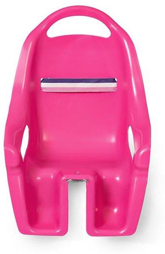 Fietszitje voor Poppen - Fietsstoeltje Roze