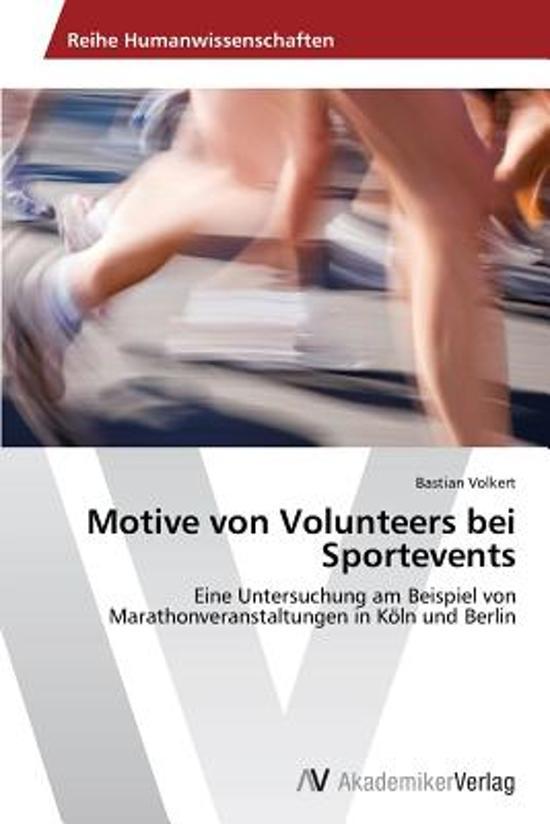 Motive Von Volunteers Bei Sportevents