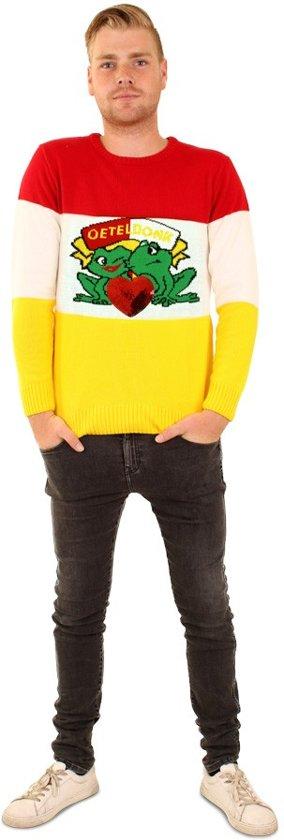Brabant & Oeteldonk Kostuum   Sweater Oeteldonk Carnaval Brede Strepen   Small   Carnaval kostuum   Verkleedkleding