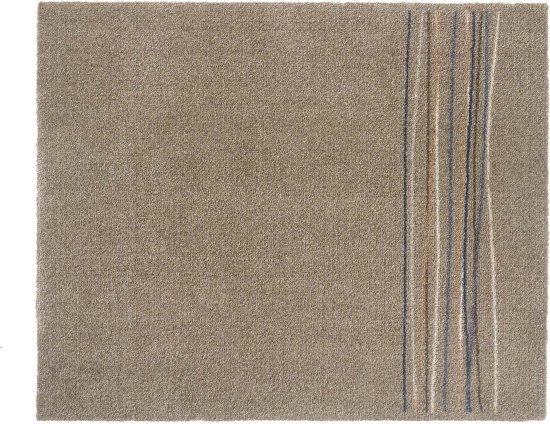 Schoonloopmat Walk&Wash Lucky Lines beige 67x80 cm